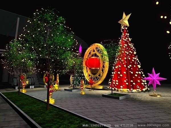 ex3-108圣诞节日快乐003展览设计模型